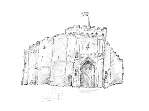 The medieval bargate in Southampton